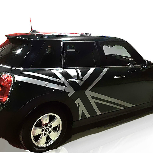 Us 89 0 Car Styling Accessories Stickers For Mini Cooper R55 R50 R53 R60 F55 F56 Uk Flag Side Body Stripes Decor Sticker Decals Graphics In Car