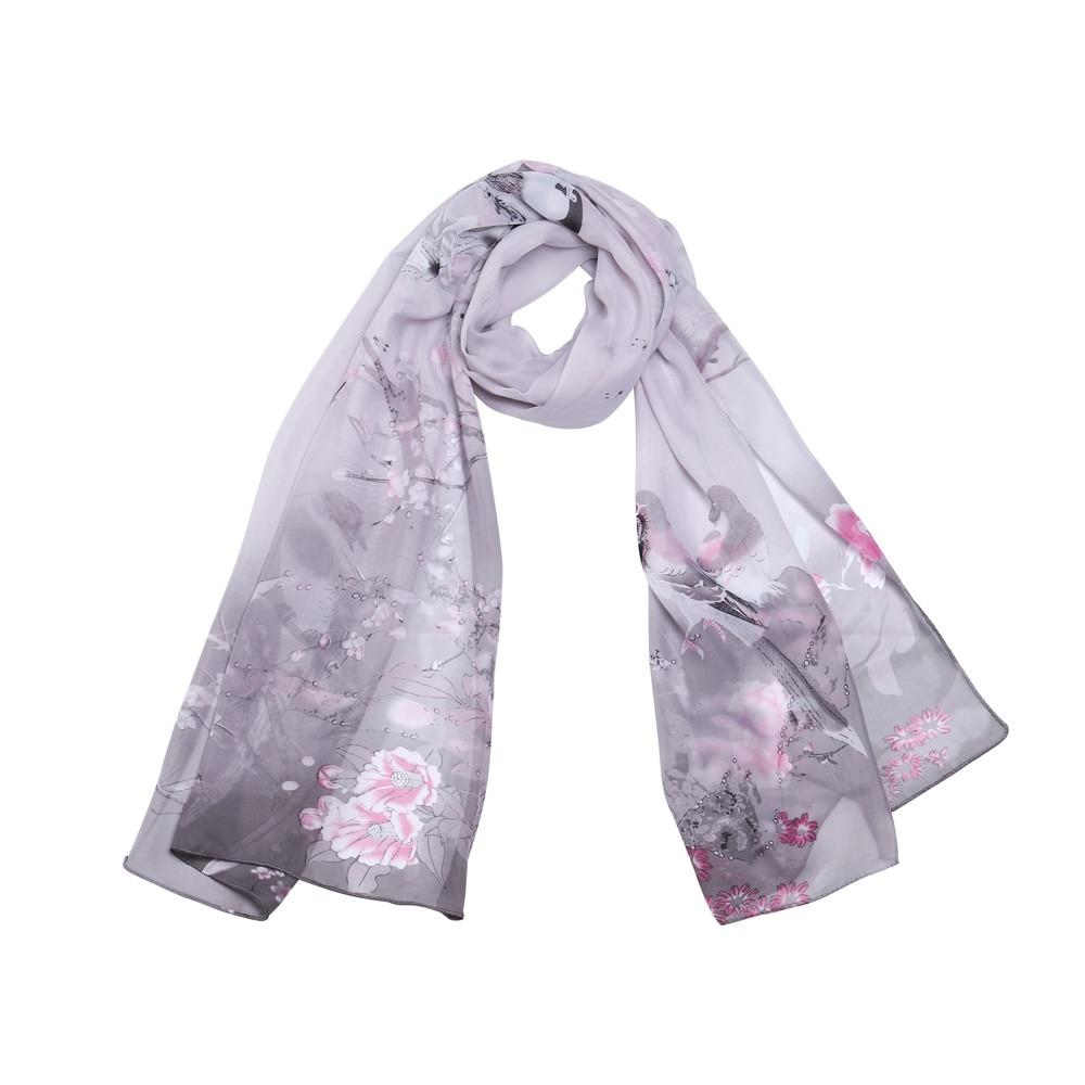 Fashion Women Long Shade Shawl   Scarf     Wrap   Chiffon   scarves   for women Elegant Women Long   Scarf   Warm   Wrap   echarpe hiver femme A9