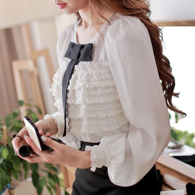 a8b90035dea0 € 55.87 |Modelos originales blusas de gasa señora top mujer camisa en  Blusas y camisas de Ropa de mujer en AliExpress.com | Alibaba Group
