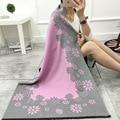 2016 Marca de Luxo Cachecol de Caxemira Para Mulheres Girassol Padrão Pashmina Xales de Cashmere Mulheres Inverno Cachecol Cobertor