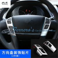 2pcs/lot Car stickers ABS Chrome steering wheel decoration cover Trims For Nissan Armada Patrol Royale Nismo Y62 2016 2018