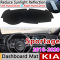 Slip Mat Car Accessories Dashboard Cover Pad Sunshade Dashmat Carpet for Kia Sportage 2016 2018 2019 Front Windshield QL Other|Car Stickers| |  -