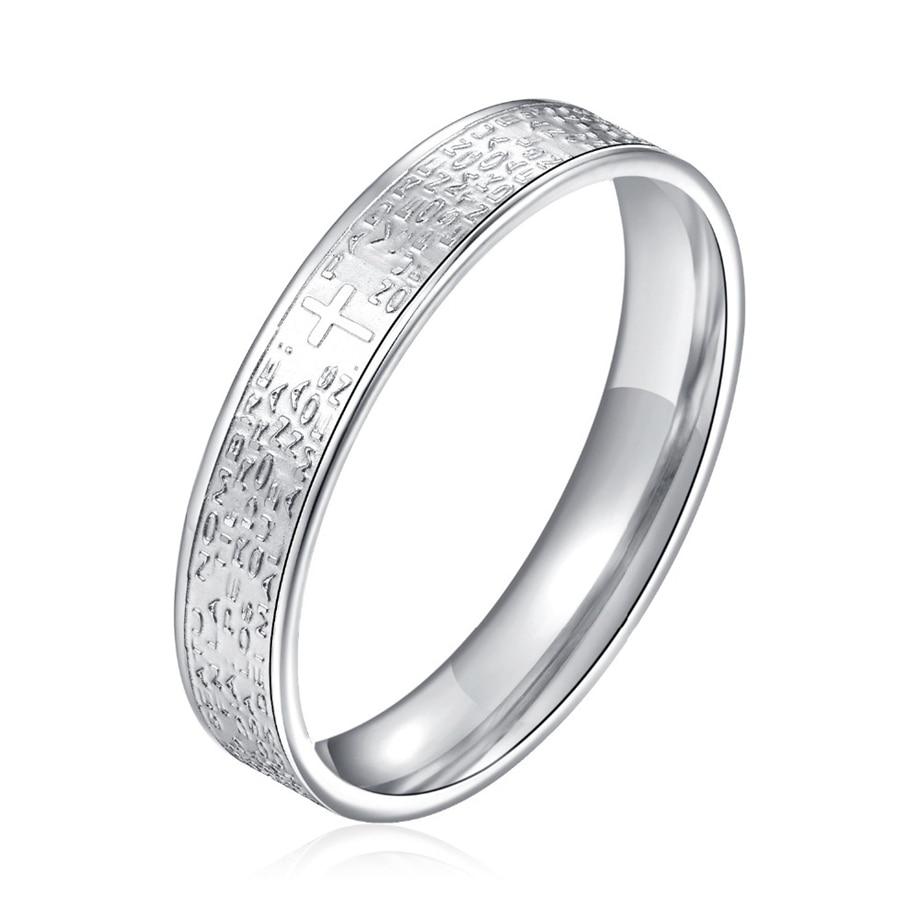 New Arrival Cross Titanium Steel Couple Finger Ring Romantic Lovers Round Ring for Women Men Feminino Accessories Gifts