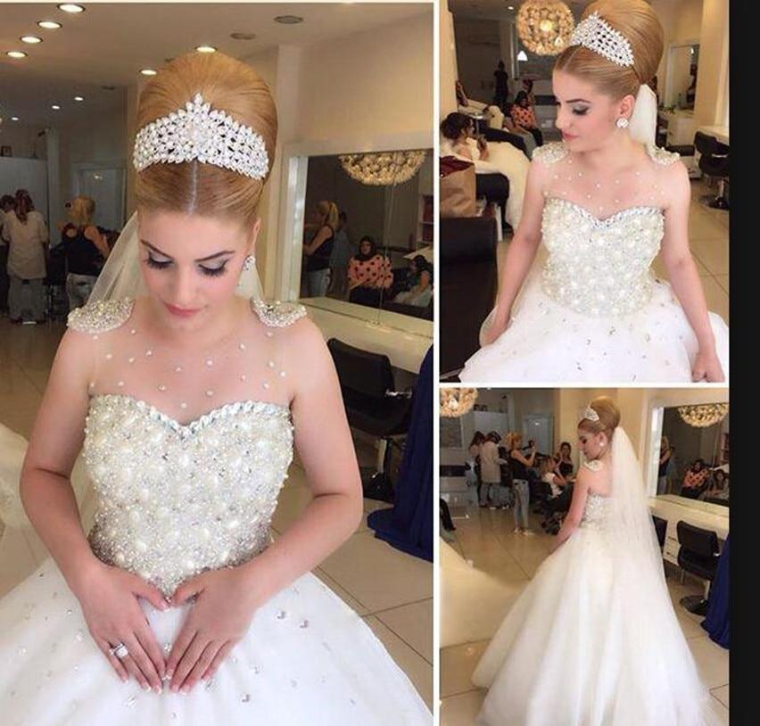 Wedding Dress White Glitter: Fantastic White Sparkle Crystals Wedding Dress A Line High