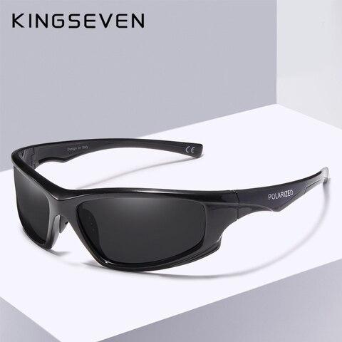 KINGSEVEN DESIGN Sunglasses Men Driving Male Polarized Sunglasses Vintage Frame Eyewear Oculos Gafas UV400 Goggle Lahore