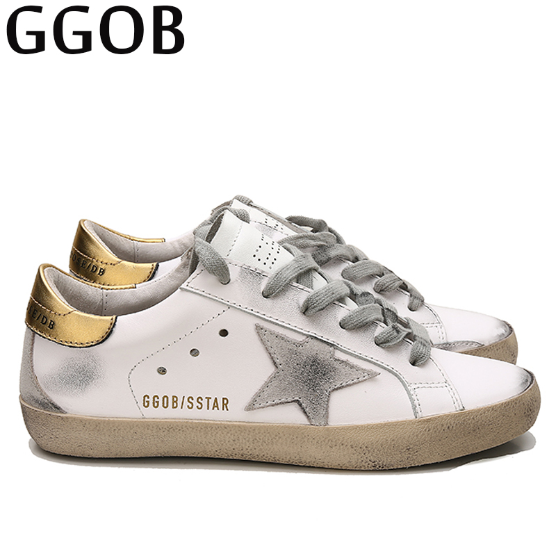 cc085032db GGOB 2018 Fashion Women Casual Shoes Walking Outdoor White Genuine Leather Womens  Shoes Sneakers Woman Brand Shoes Free shipping