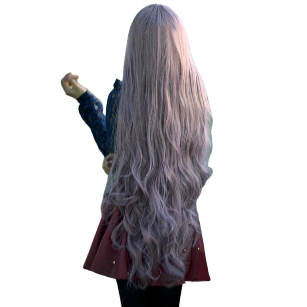 New Fashion Womens Lady Long Curly Wavy Hair Full Wigs Cosplay Party Anime Lolita Wig 100cm HB88 new electric magnetic induction cooker household special waterproof oven mini small hot pot stove kitchen cooktop 220v ca2007g