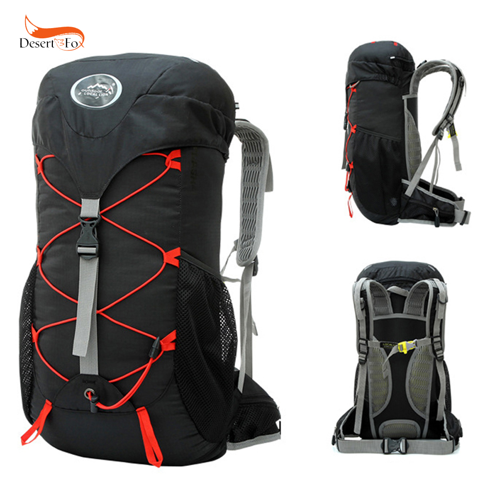 35L Outdoor Mountaineering Bag Double Shoulder Bag Bulk Camping Hiking Backpack Waterproof Nylon Fabric Cloth Sport Bag