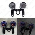 20Set Universal LED Motorcycle Tachometer + Odometer Speedometer Gauge #FD-2523