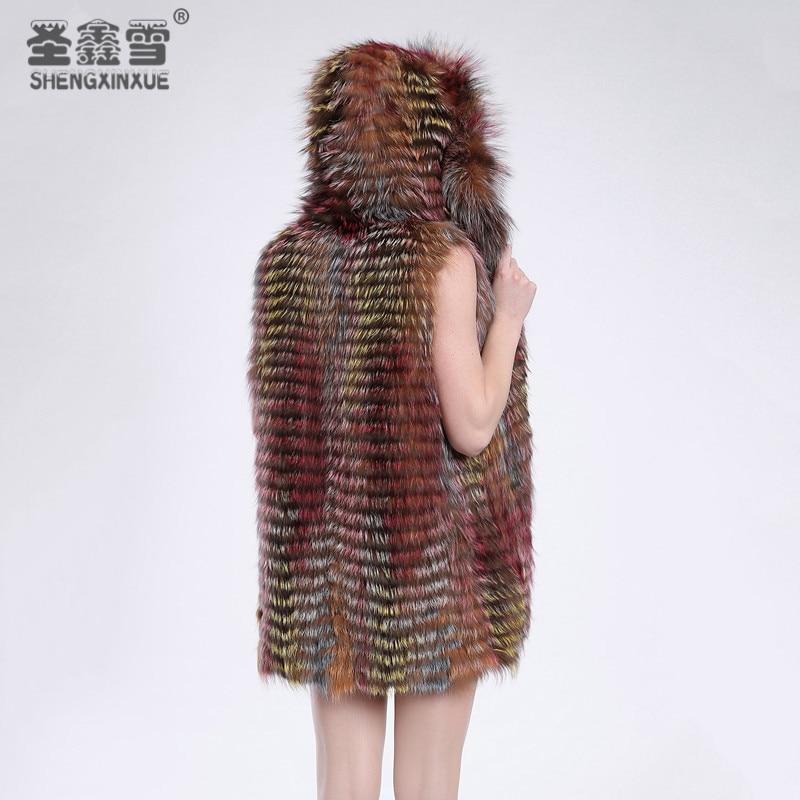 C1 Manteaux Femmes Mode Chapeau Réel Pardessus Survêtement Veste Avec Renard De Argent Vêtements Style Rayé Fourrure Un waq8wAgU