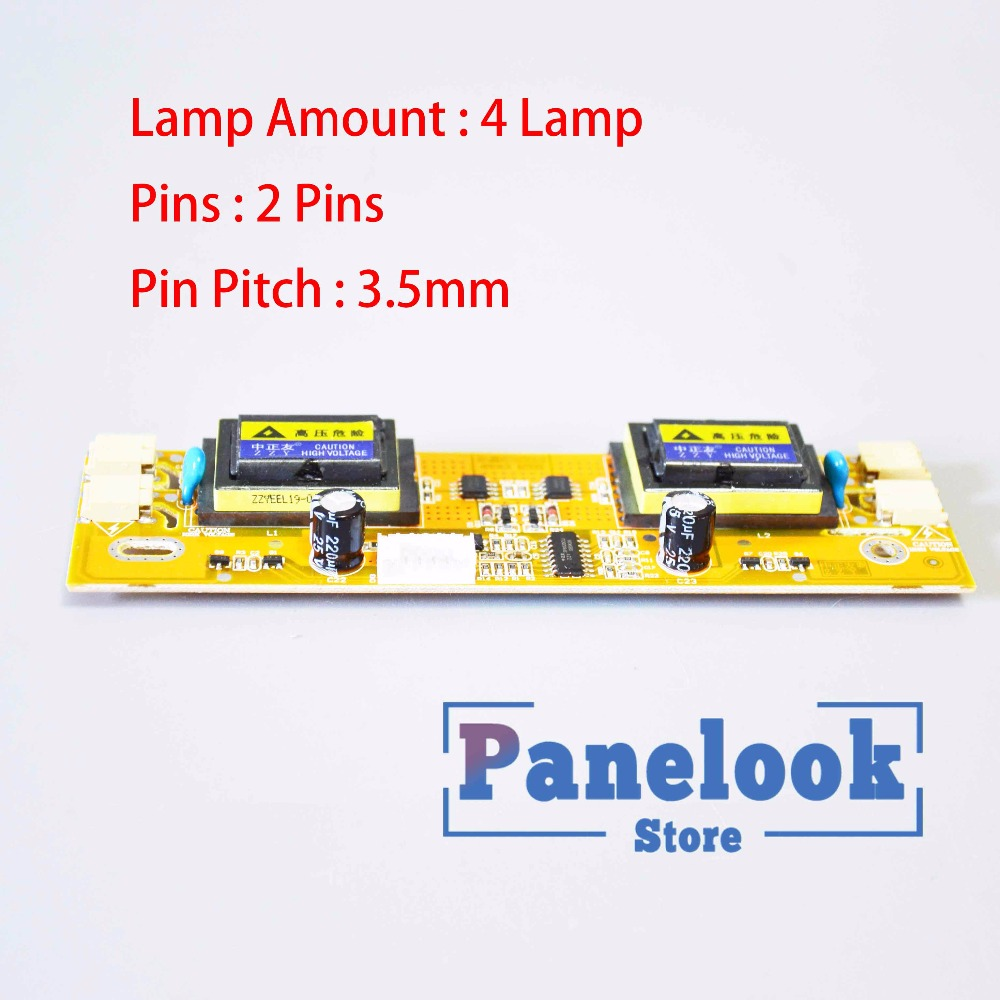 SF-04S4026 4 Lamp Backlight LCD Lamp CCFL Inverter Board Screen Panel Monitor High Pressure Board 3.5mm Pitch + Dupond Line