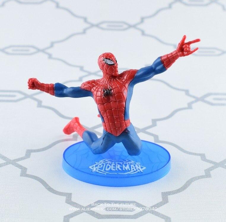Toys & Hobbies Disney Marvel Avengers 10cm Spider Man Black Panther Action Figure Posture Model Anime Decoration Collection Figurine Toys Model