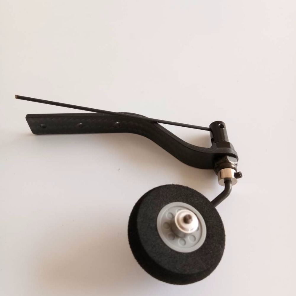 Airplane Accessory 1 Carbon Fiber Tail Wheel Set Tail Landing Gear With Plastic Hub Sponge Wheel For 20cc Gasoline RC Plane aluminium tail wheel set for 50cc gas rc airplane