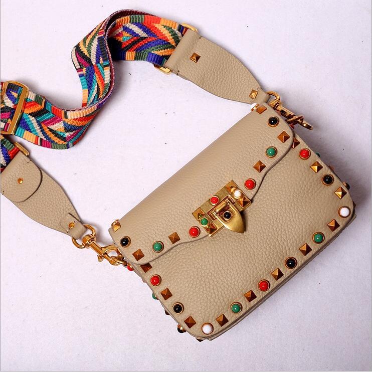 ФОТО New Womens Ladies Designer Handbags Fashion Genuine Navy Stripe Snakehead Hasp Triangle Handbag Flap Shoulder Bag Messenger Bags