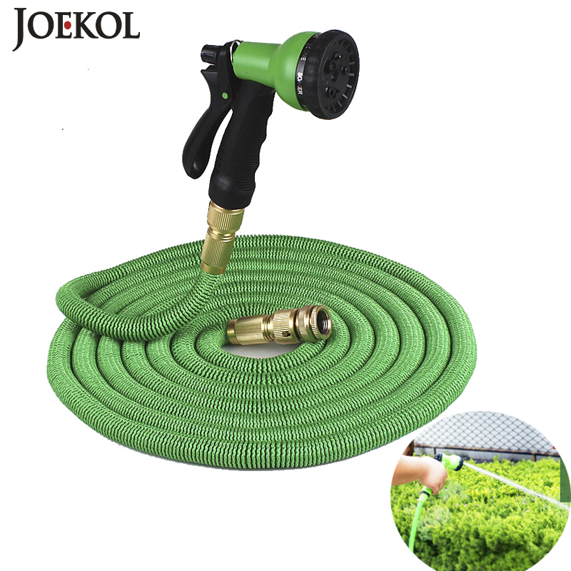 Hot Sale 25Ft-200Ft Garden Hose Expandable Magic Flexible Water Eu Hose Plastic Hoses Pipe With Spray Gun To Watering,Car Wash(China)