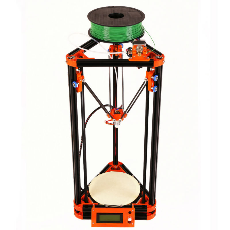 LCD Display Diy Kossel 3d Printer Kit With Free 40m Filament SD Card and Masking Tape