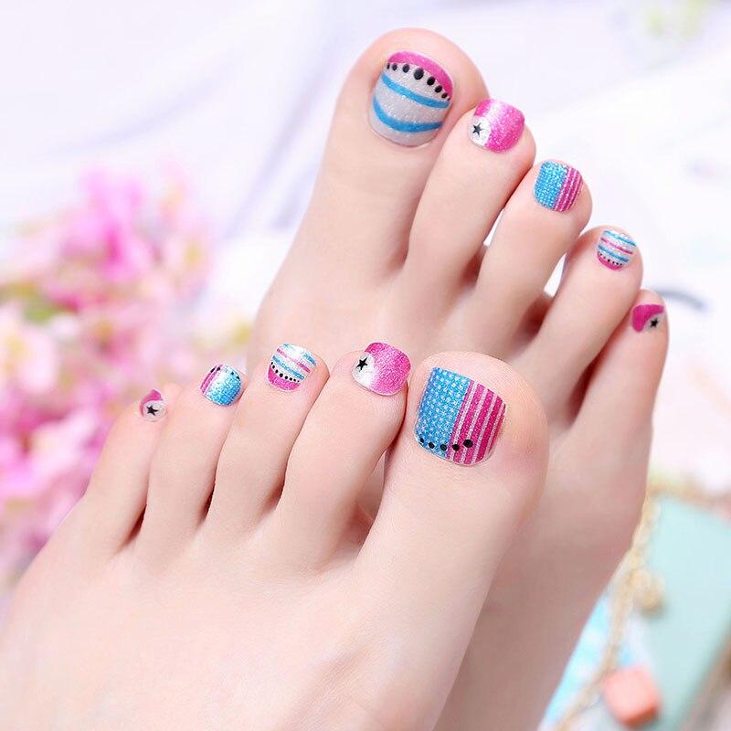 22pcs/Sheet Toe Sticker Hot design nail wraps Jamberry waterproof ...