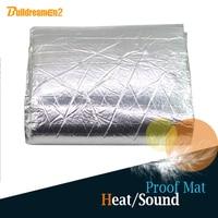 100 X 100CM 40 X 40 Car Truck Body Aluminum Foil Heat Resistant Sound Proof Insulation