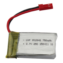 Wholesale  Brand 3.7V 750mAh JST For MJX X400 X300C JJRC H12C Upgrade Battery RC Helicopter Quadcopter Parts  Accessories