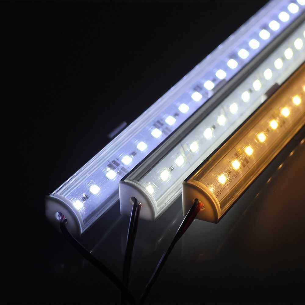 2 шт. DC12V 90 градусов настенный светодио дный Угловой светодиодный бар свет 5730 5630 светодио дный 36 LED 50 см V Форма Алюминий светодио дный 5730 LED твердая полоса бар свет кабинет лампа