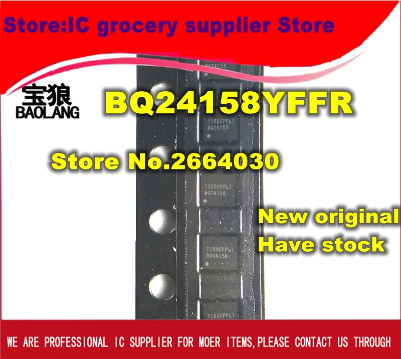 Free shipping 10pcs/lot BQ24158YFFR BQ24158 20-DSBGA BATT MGMT 1CELL LIION IC Best quality