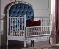 Домашний европейский стиль Классическая деревянная резная мебель, Роскошная детская кровать, детская кровать в европейском стиле