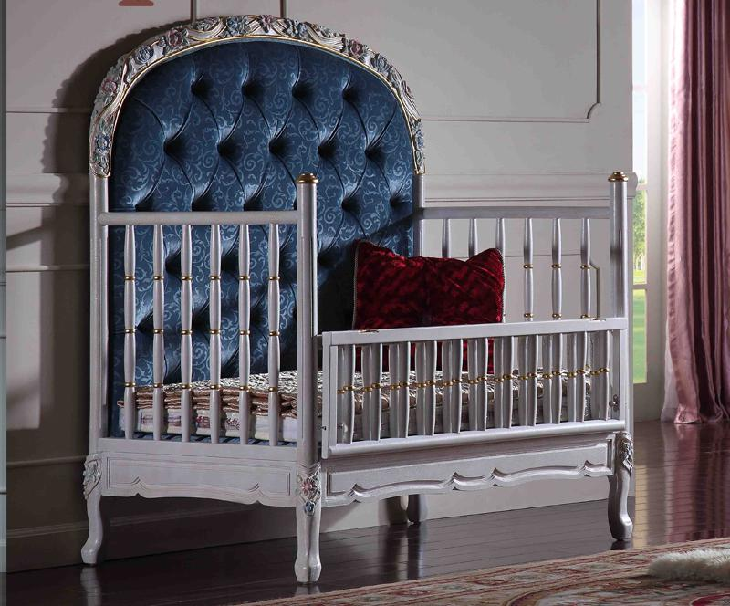 Home European Style Classical Solid Wood Carved Furniture, Luxury Baby Bed, Court European Style Baby Bed european style best sale home used king size sex bed frame furniture