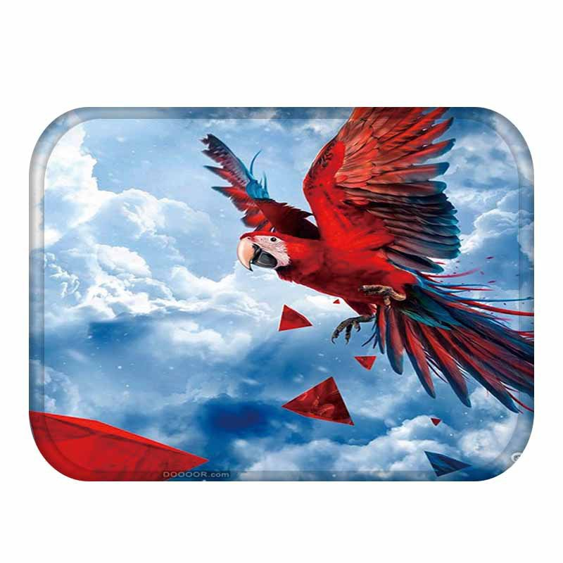 Welcome Anti-Slip Floor Mat Waterproof Cute Parrots Carpets Bedroom Rugs Decorative Stair Home Decor Crafts Tapete