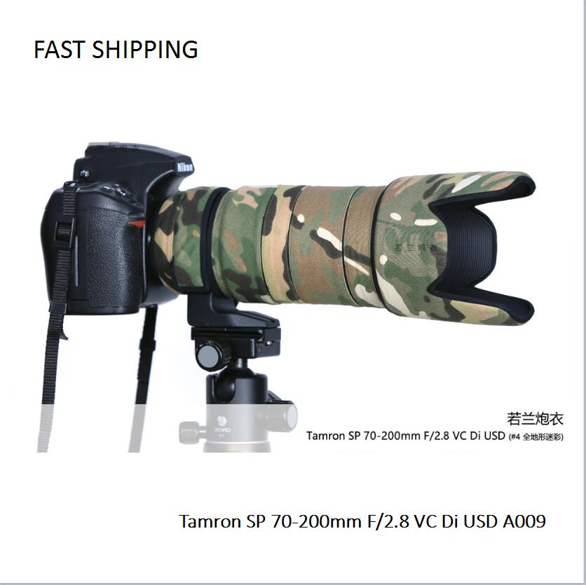 DHL/EMS Shipping Lens Coat  Camouflage  For Tamron SP 70-200mm F/2.8 VC Di USD A009  Gun Clothing  Lens Protection  Pt0041