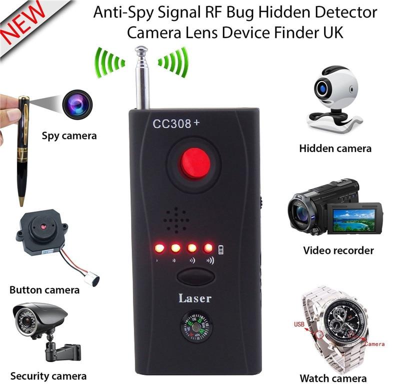 Wireless GPS Signal Detector Hidden Camera GSM Audio Bug Detector Anti Spy Finder GPS Signal Lens RF Tracker