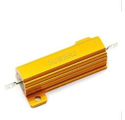 1pcs,RX24, 50W,220R 220 ohm ,5% , Aluminium case wirewound resistor. Metal shell, high-power resistors.5%. Axial Leads