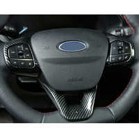 For Ford Focus st 2019 2020 2PCS ABS Car Interior Steering Wheel Cover Trims Stickers Accessories Car Styling Moldings