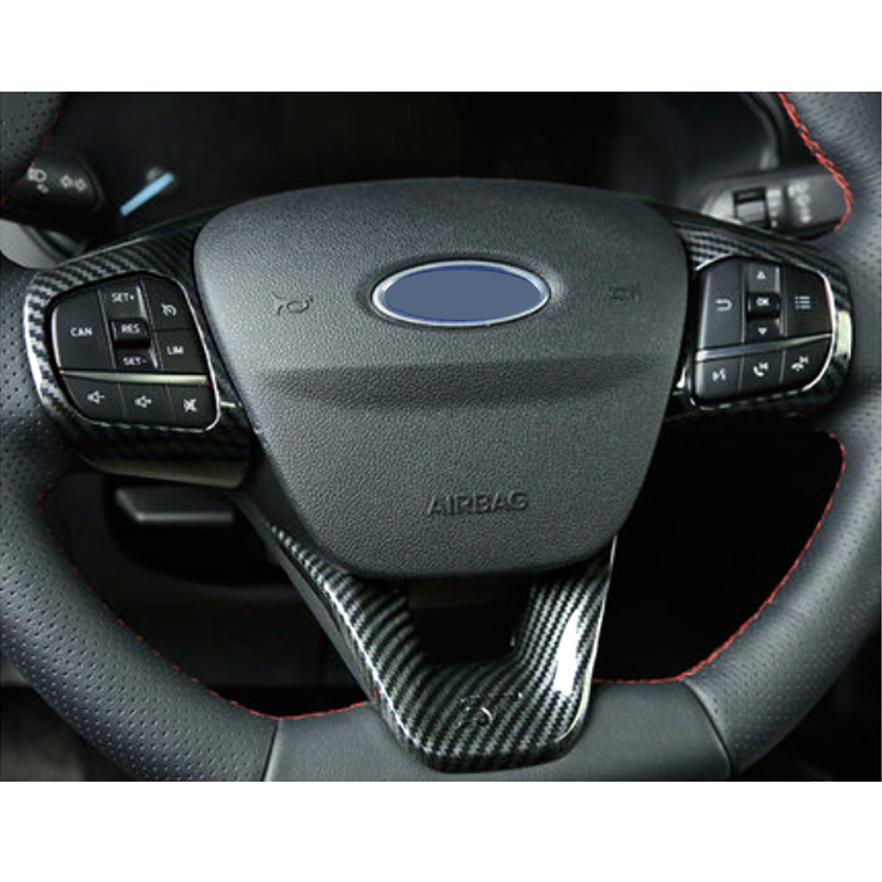 Para Ford Focus st 2019 1 PC ABS cubierta del volante Interior del coche pegatinas accesorios molduras de Diseño del coche