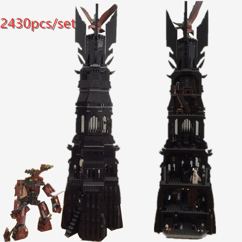 New 2430Pcs Lord of the Rings The Tower of Orthanc Model fit legoings 10237 Building Kits Blocks Bricks Toys birthday Gift