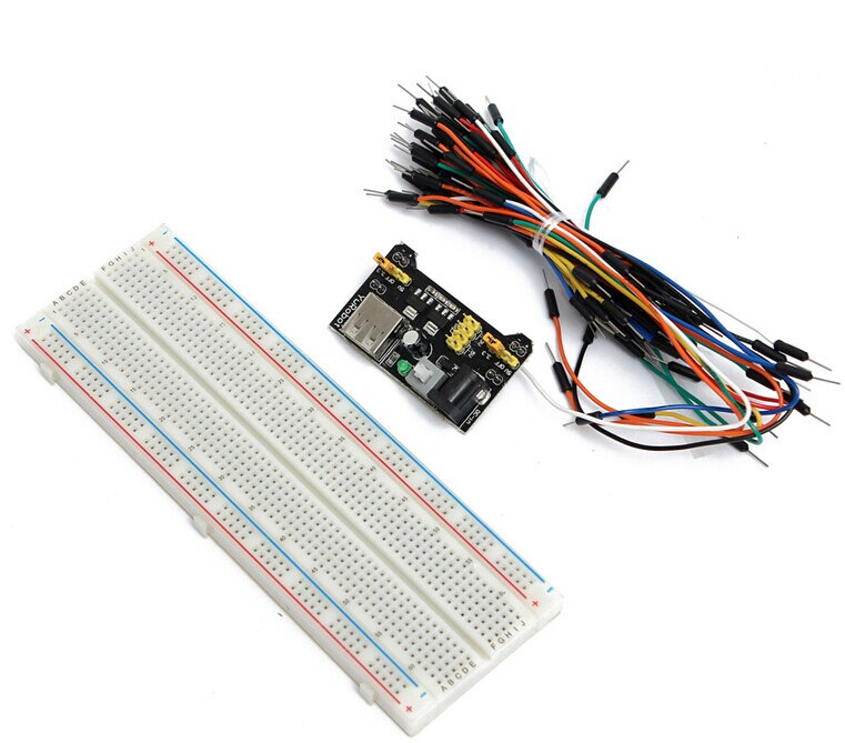 MB102 Breadboard power module+MB-102 830 points Solderless Prototype Breadboard kit +65 Flexible jumper wiresMB102 Breadboard power module+MB-102 830 points Solderless Prototype Breadboard kit +65 Flexible jumper wires
