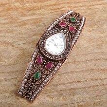 Bracelet&Bangle For Women Wrist Watch Jewelry Waterdrop Crystal Acrylic Vintage Charm Link Chian Pulseiras Feminina Mujer Bijoux