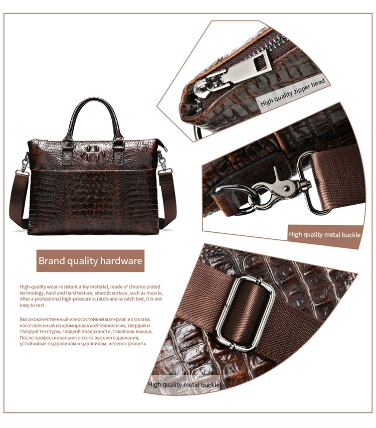 HTB1jkMlbeH2gK0jSZJnq6yT1FXaZ MVA Male briefcase/Bag men's genuine leather bag for men leather laptop bags office bags for men Crocodile Pattern handbag 5555