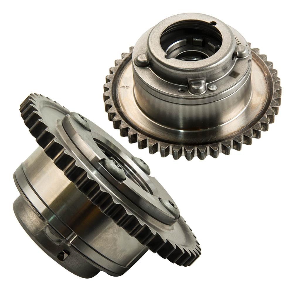 2PCS Camshaft Adjuster Actuator for Mercedes W204 C250 SLK250 1.8L 2710503347 2710503447 2710502947 (Exhaust+Intake) Cam Gears