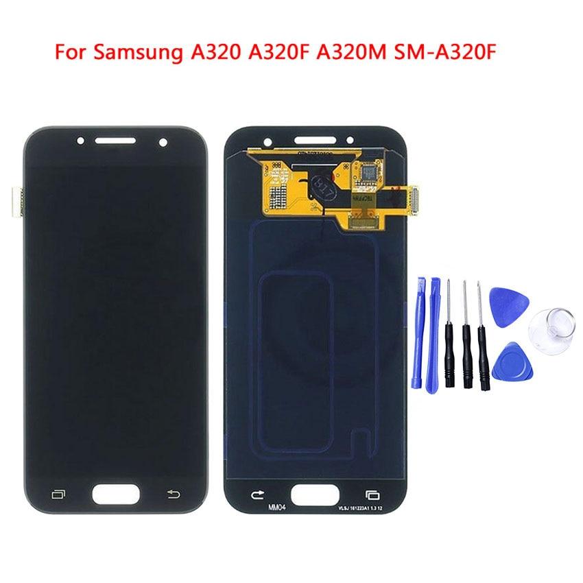 Pour Samsung Galaxy A3 2017 A320 A320F A320M SM-A320F Lcd affichage numériseur panneau écran assemblage pièce de rechange avec outils