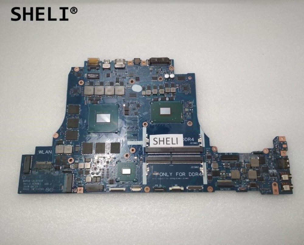 SHELI LA-D751P CN-0JHRTF 0JHRTF JHRTF For Dell Alien-ware 17 R4 Motherboard With I7-6700HQ GTX1060 6GB