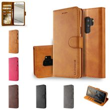 Fundas For Samsung Samsun Note 9 8 Note8 Leather Flip Book Wallet Stand Phone Case etui caso Cover For S9 S8 S 9 Plus S7 S6 Edge(China)