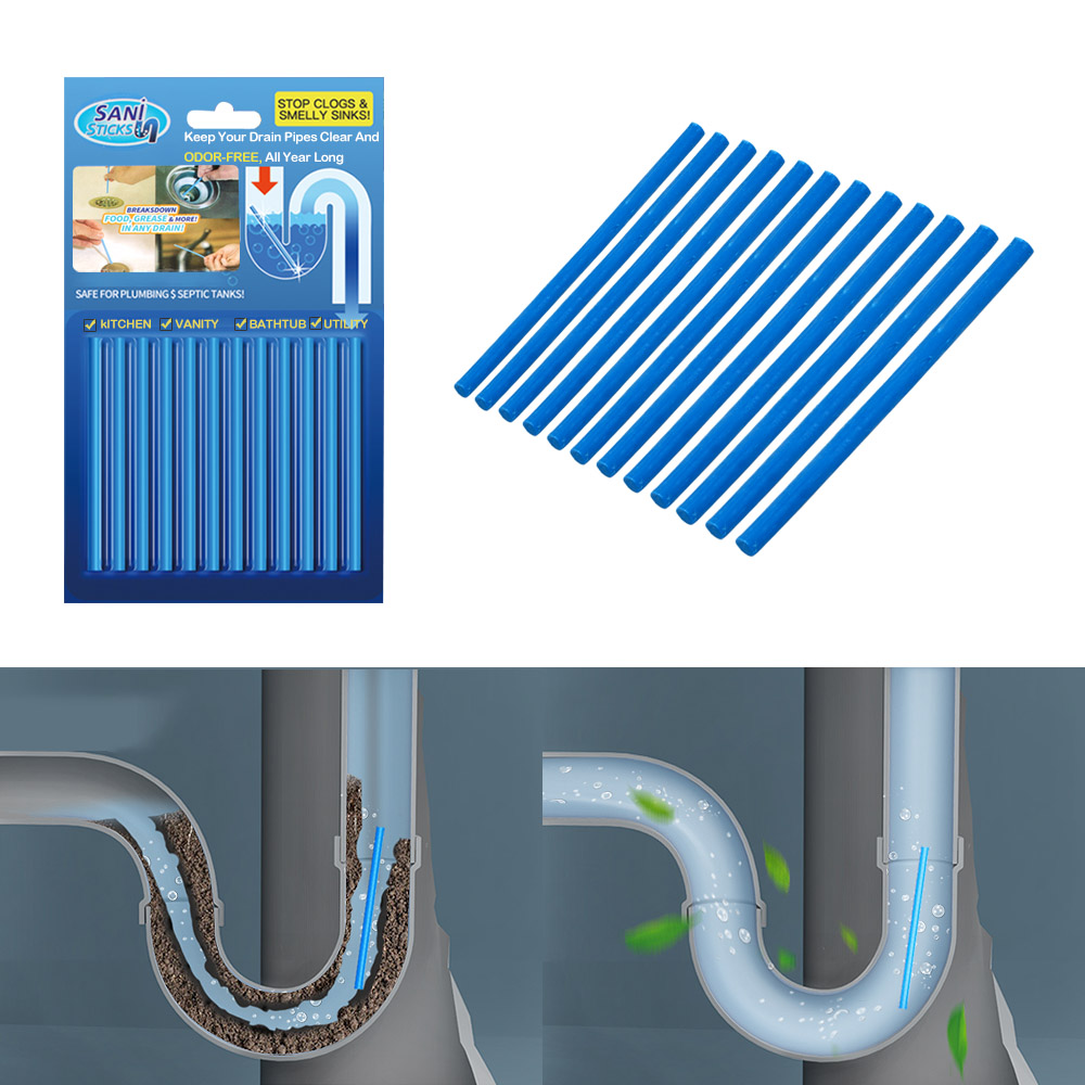Sensible Home Cleaning Sink Clogging Remover Tools Drain Toilet Pipe Cleaner For Home Kitchen Bathroom 12pcs/set Air Cleaner