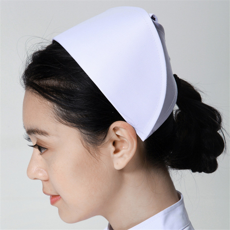 2019 New Occupation Nurse Hat Medical Staff White Nurse Cap Female Medical Doctor Hat Hospital Dentist Work Caps Wholesale Cap
