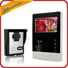 4 3 Color Video Door Phone Video Door bell Intercom Monitor Kit IR Night Vision Waterproof