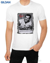 GILDAN Hot Selling 100 % Cotton Jack Nickelson Cuckoo's Nest Crazy Man Men's T Shirt Celebrity Hollywood