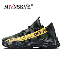 MIVNSKVE Men Sneakers Military Camouflage Sports Men Running Shoes Summer Krasovki Trainers Ultra Boosts Sneakers Walking shoes