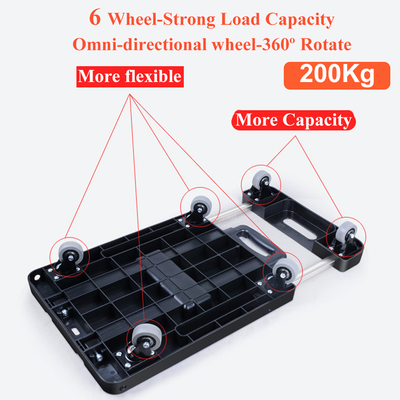 Portable Metal PP Folding Luggage Trolley Cart for Car Travel Accessory Luggage Shipping Trailer Adjustable Handle Chassis Islamabad