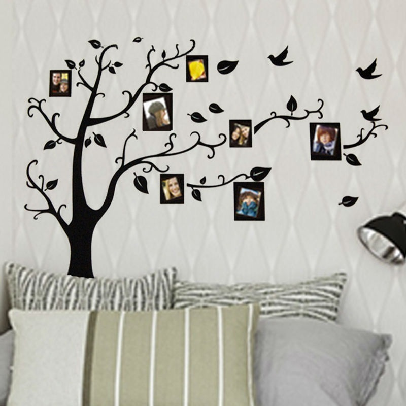 3designs small medium large photo frame family tree wall - Arbre genealogique stickers ...
