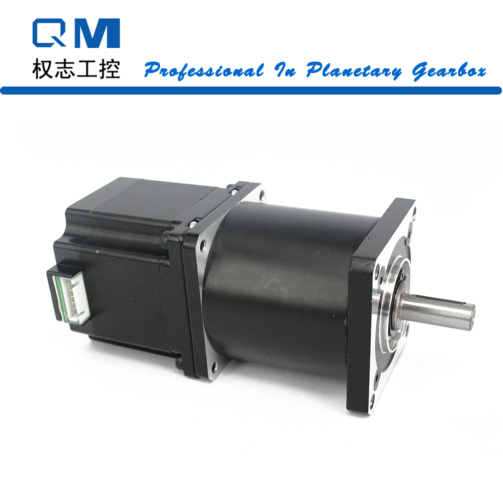 Nema 23 geared stepper motor L=54mm planetary reduction gearbox ratio 15:1 cnc robot pump 57mm planetary gearbox geared stepper motor ratio 10 1 nema23 l 56mm 3a