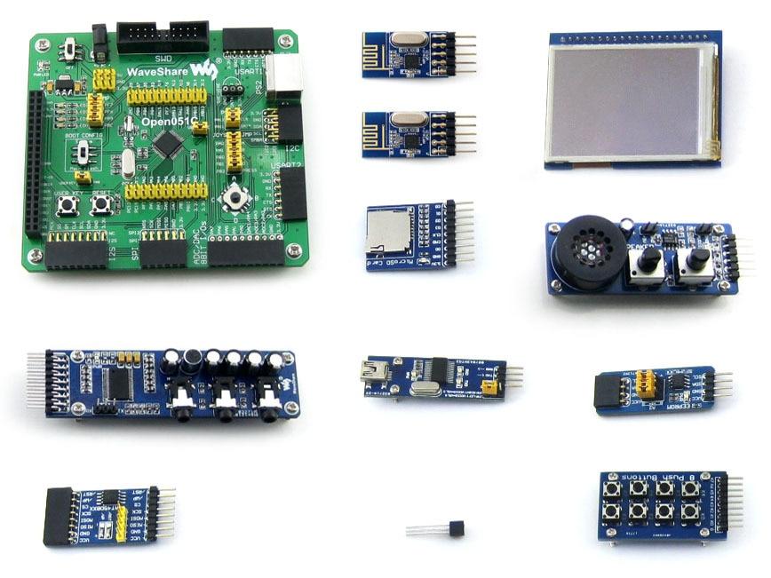 Open051C- A STM32F051C8T6 STM32F051 STM32 development board learning board +2.2 LCD 8 modules xilinx fpga development board xilinx spartan 3e xc3s250e evaluation board kit lcd1602 lcd12864 12 modules open3s250e package b
